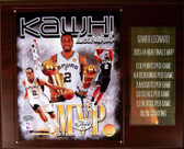 "NBA 12""x15"" Kawhi Leonard San Antonio Spurs 2013-14 Finals MVP Plaque"