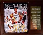 "NBA 12""x15"" Kawhi Leonard San Antonio Spurs 2013-14 Finals MVP Plaque"