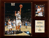"NBA 12""x15"" Manu Ginobili San Antonio Spurs Player Plaque"
