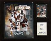 "NBA 12""x15"" San Antonio Spurs 2007 NBA Champions Plaque"