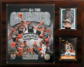 "NBA 12""x15"" San Antonio Spurs All-Time Great Photo Plaque"