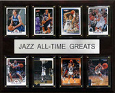"NBA 12""x15"" Utah Jazz All-Time Greats Plaque"