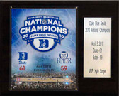 "NCAA Basketball 12""x15"" Duke Blue Devils 2010 National Champions Plaque"