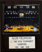 "NCAA Basketball 12""x15"" Allen Fieldhouse Arena Plaque"