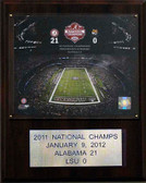 "NCAA Football 12""x15"" Alabama Crimson Tide 2011 BCS National Champions Plaque"