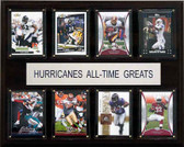 "NCAA Football 12""x15"" Miami Hurricanes All-Time Greats Plaque"