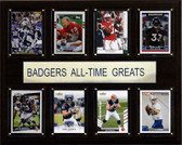 "NCAA Football 12""x15"" Wisconsin Badgers All-Time Greats Plaque"