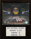 "NCAA Football 12""x15"" Auburn Tigers 2010 BCS National Champions Plaque"