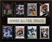 "NCAA Football 12""x15"" Virginia Tech Hokies All-Time Greats Plaque"