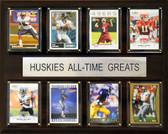 """NCAA Football 12""""x15"""" Washington Huskies All-Time Greats Plaque"""