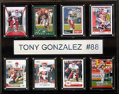 "NFL 12""x15"" Tony Gonzalez Atlanta Falcons 8-Card Plaque"