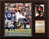 """NFL 12""""x15"""" Tony Gonzalez Atlanta Falcons Player Plaque"""