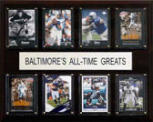 "NFL 12""x15"" Baltimore Ravens All-Time Greats Plaque"