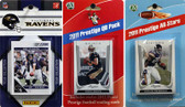NFL Baltimore Ravens Licensed 2011 Score Team Set With Twelve Card 2011 Prestige All-Star and Quarterback Set