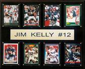 "NFL 12""x15"" Jim Kelly Buffalo Bills 8-Card Plaque"
