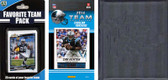 NFL Carolina Panthers Licensed 2014 Score Team Set and Favorite Player Trading Card Pack Plus Storage Album