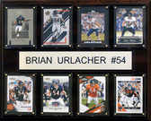 "NFL 12""x15"" Brian Urlacher Chicago Bears 8 Card Plaque"