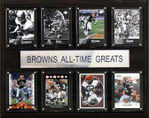 "NFL 12""x15"" Cleveland Browns All-Time Greats Plaque"
