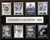 "NFL 12""x15"" DeMarcus Murray Dallas Cowboys 8-Card Plaque"