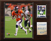 "NFL 12""x15"" Champ Bailey Denver Broncos Player Plaque"