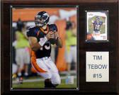 """NFL 12""""x15"""" Tim Tebow Denver Broncos Player Plaque"""