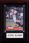 "NFL 4""x6"" John Elway Denver Broncos Player Plaque"