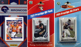 NFL Denver Broncos Licensed 2011 Score Team Set With Twelve Card 2011 Prestige All-Star and Quarterback Set