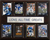 "NFL 12""x15"" Detroit Lions All-Time Greats Plaque"