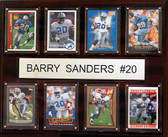 "NFL 12""x15"" Barry Sanders Detroit Lions 8 Card Plaque"