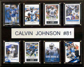 "NFL 12""x15"" Calvin Johnson Detroit Lions 8-Card Plaque"