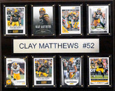 "NFL 12""x15"" Clay Matthews Green Bay Packers 8-Card Plaque"