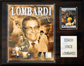 "NFL 12""x15"" Vince Lombardi Green Bay Packers Player Plaque"
