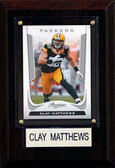 "NFL 4""x6"" Clay Matthews Green Bay Packers Player Plaque"
