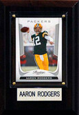 "NFL 4""x6"" Aaron Rodgers Green Bay Packers Player Plaque"