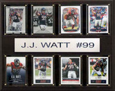 "NFL 12""x15"" J.J. Watt Houston Texans 8-Card Plaque"