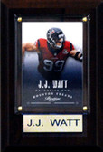 "NFL 4""x6"" J.J. Watt Houston Texans Player Plaque"