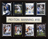 "NFL 12""x15"" Peyton Manning Indianapolis Colts 8 Card Plaque"