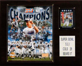 "NFL 12""x15"" Indianapolis Colts Super Bowl XLI Champions Plaque, Gold Edition"