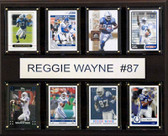 "NFL 12""x15"" Reggie Wayne Indianapolis Colts 8-Card Plaque"