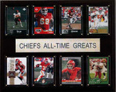 "NFL 12""x15"" Kansas City Chiefs All-Time Greats Plaque"