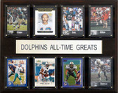 "NFL 12""x15"" Miami Dolphins All-Time Greats Plaque"