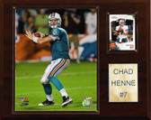 "NFL 12""x15"" Chad Henne Miami Dolphins Player Plaque"