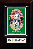 "NFL 4""x6"" Dan Marino Miami Dolphins Player Plaque"