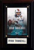 "NFL 4""x6"" Ryan Tannehill Miami Dolphins Player Plaque"
