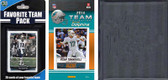 NFL Miami Dolphins Licensed 2014 Score Team Set and Favorite Player Trading Card Pack Plus Storage Album