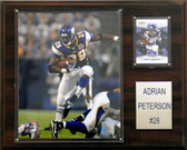 "NFL 12""x15"" Adrian Peterson Minnesota Vikings Player Plaque"