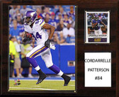 "NFL 12""x15"" Cordarrelle Patterson Minnesota Vikings Player Plaque"