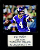 "NFL 12""x15"" Brett Favre Minnesota Vikings Player Plaque"