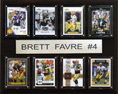"NFL 12""x15"" Brett Favre Minnesota Vikings 8 Card Plaque"