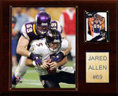 "NFL 12""x15"" Jared Allen Minnesota Vikings Player Plaque"